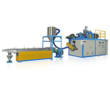 Continuous Mixer with Extrusion Pelletizing Liner